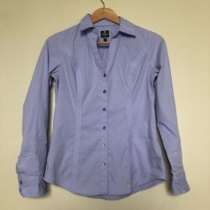 Fitted Essential Button Down Shirt, S || Express